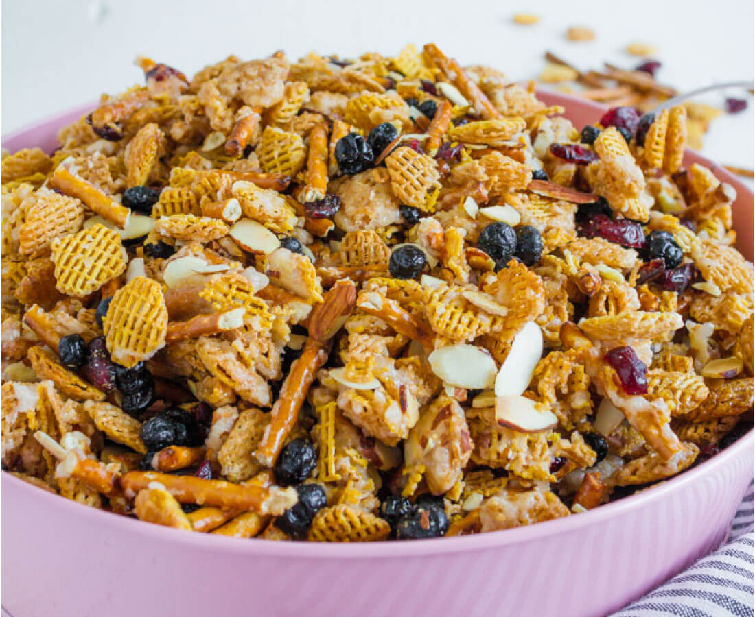 Salty and Sweet Party Mix Recipe - the perfect treat for a party, for a snack or just because.