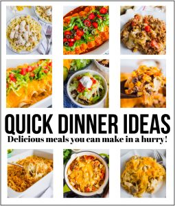 Quick Dinner Ideas - delicious recipes that you can make in a hurry! www.thirtyhandmadedays.com
