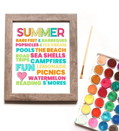 Free Printable Summer Quote - download this print and hang it up in your home.