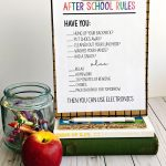 After School Rules - print this sheet and use to help your afternoons run smoother.