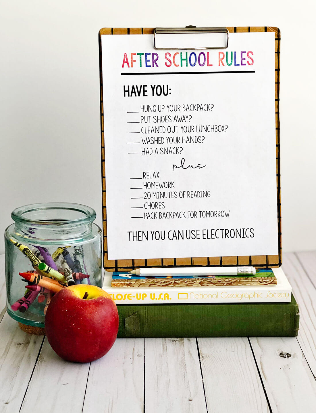 After School Rules - print out this sheet and use to help your afternoons run smoother.