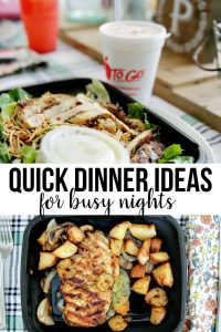 Quick and easy dinner ideas for busy nights!
