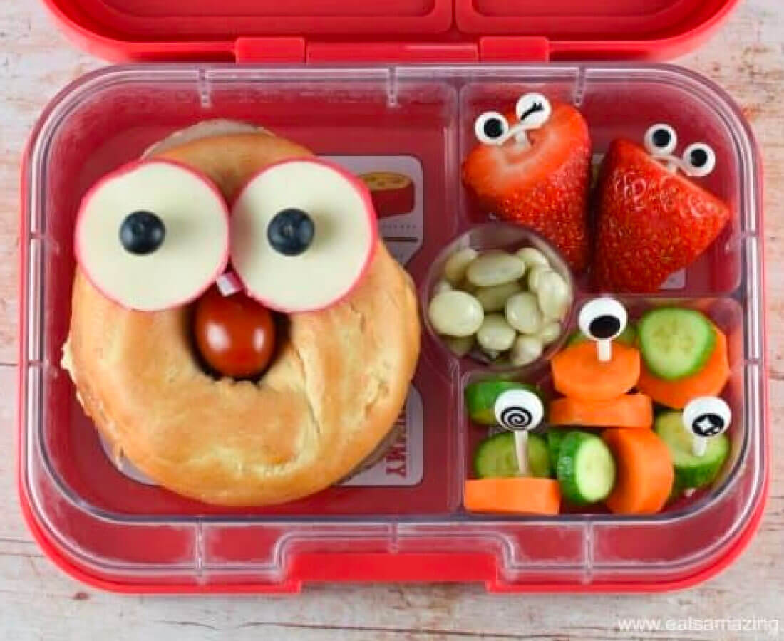 Bento Box - make this cute bagel sandwich
