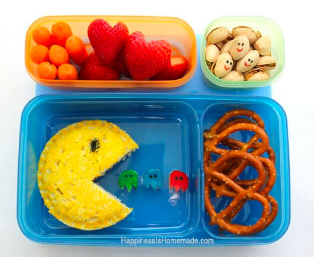 Kids Bento Box - make this awesome Pac-Man lunch
