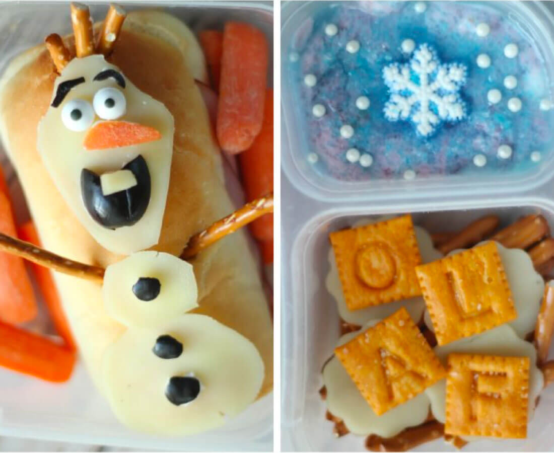 Kids Bento Box - make this cute Olaf lunch