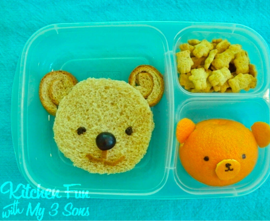 Kids Bento Box - make this cute bear lunch