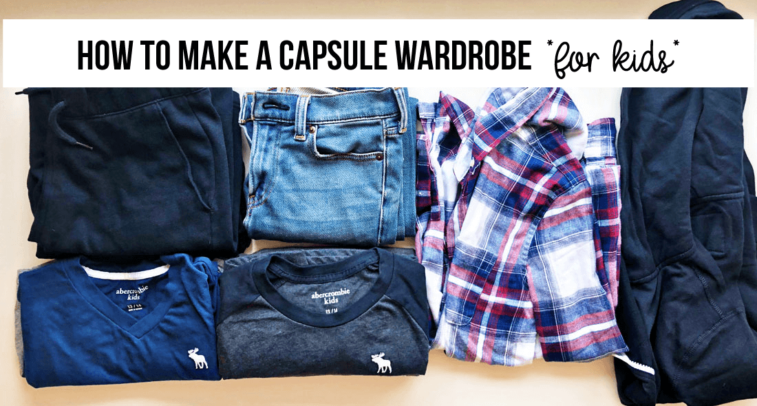 How to make a capsule wardrobe for kids - perfect for back to school!