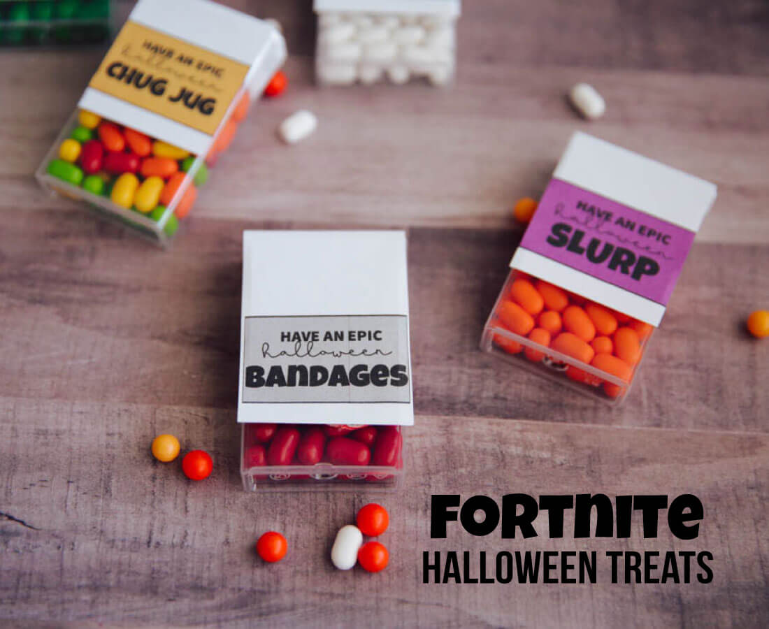 FortNite Halloween Treats - your game players will love these labels to add to TicTacs.