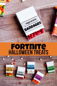 FortNite Halloween Treats - your game players will love these labels to add to TicTacs. www.thirtyhandmadedays.com