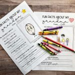Printables for Grandparents Day - have your kids fill out these fun sheets.