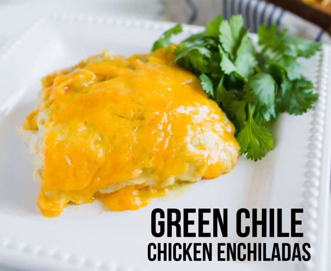 Green Chile Chicken Enchiladas - an easy dinner recipe that your whole family will love!