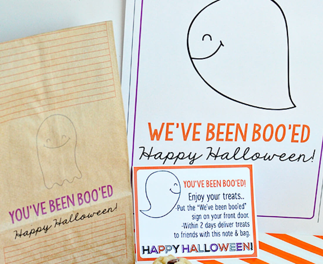 We've Been Boo'ed Printable Halloween Set