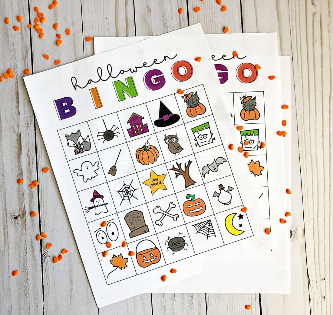 image relating to Printable Halloween Bingo Cards identify Printable Halloween Bingo