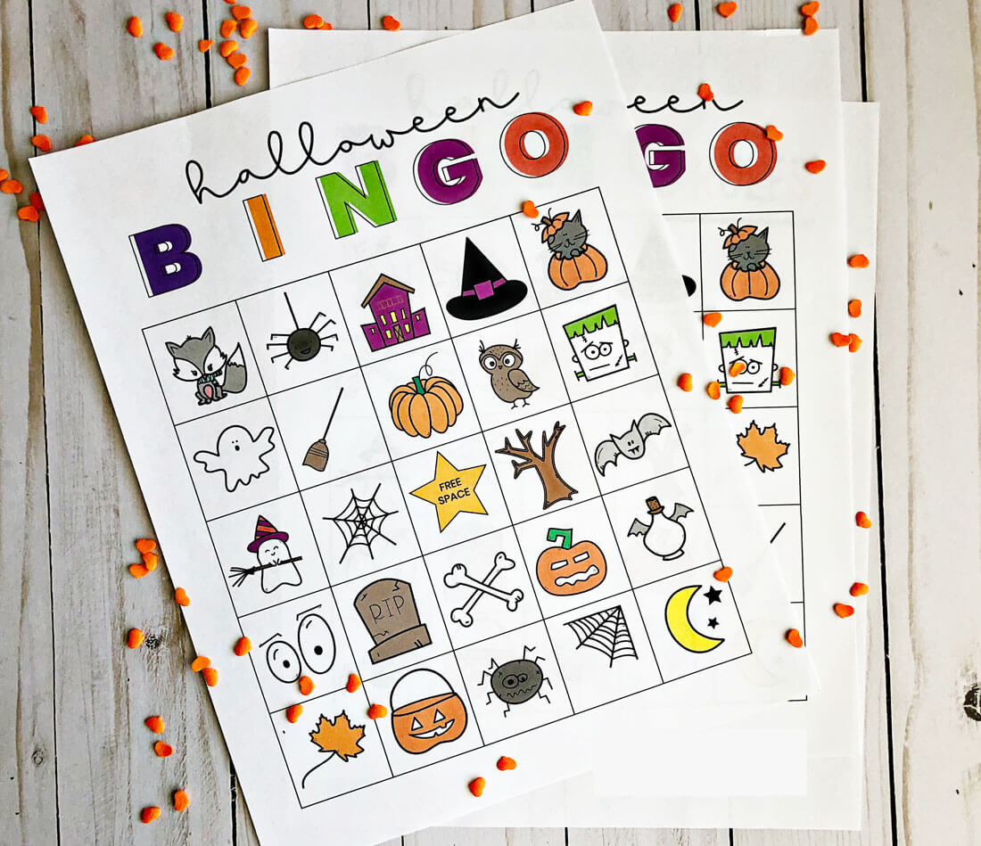 Printable BINGO Halloween sheets - print out these 5 bingo sheets and have some fun! www.thirtyhandmadedays.com