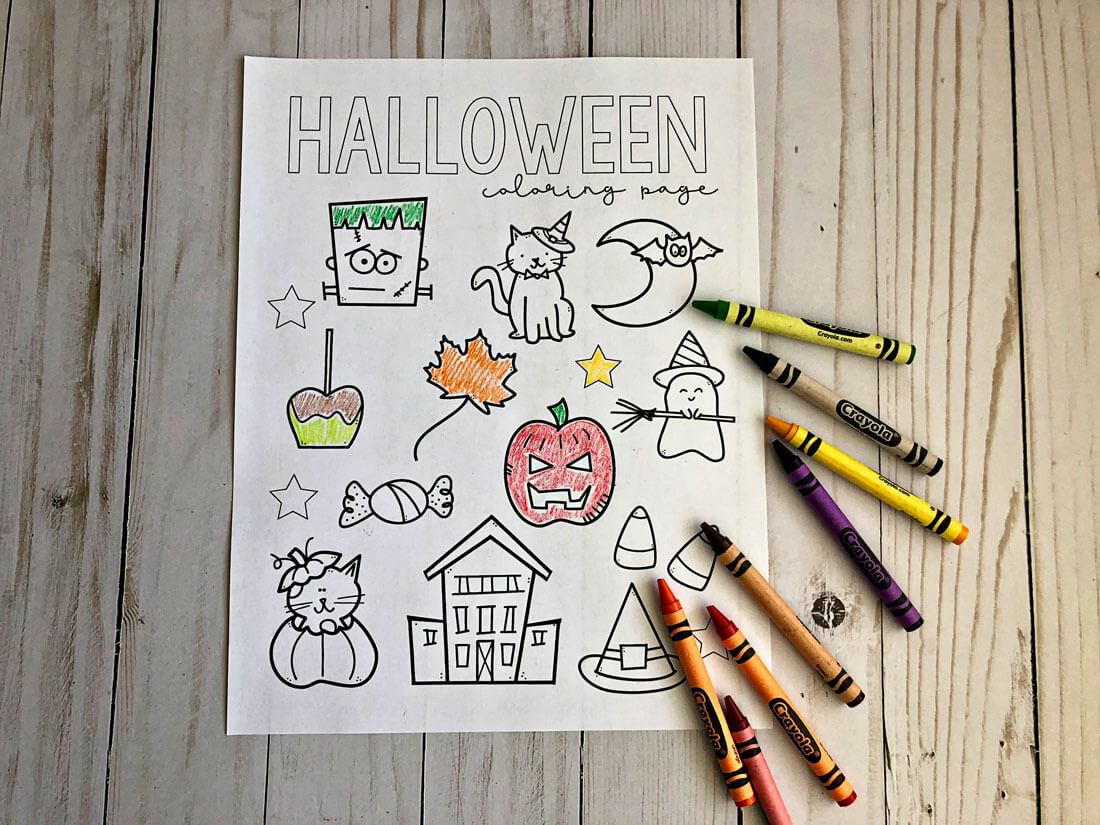 Free Printable Halloween Coloring Pages - download and fill in this cute sheet for the holiday! www.thirtyhandmadedays.com