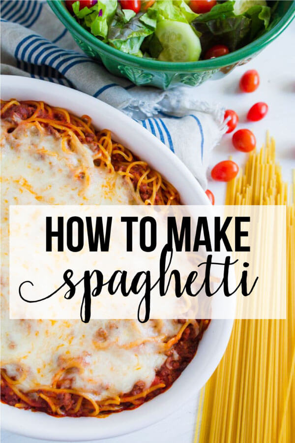 Learn how to make spaghetti with some basic tips and recipes that everyone will love! www.thirtyhandmadedays.com