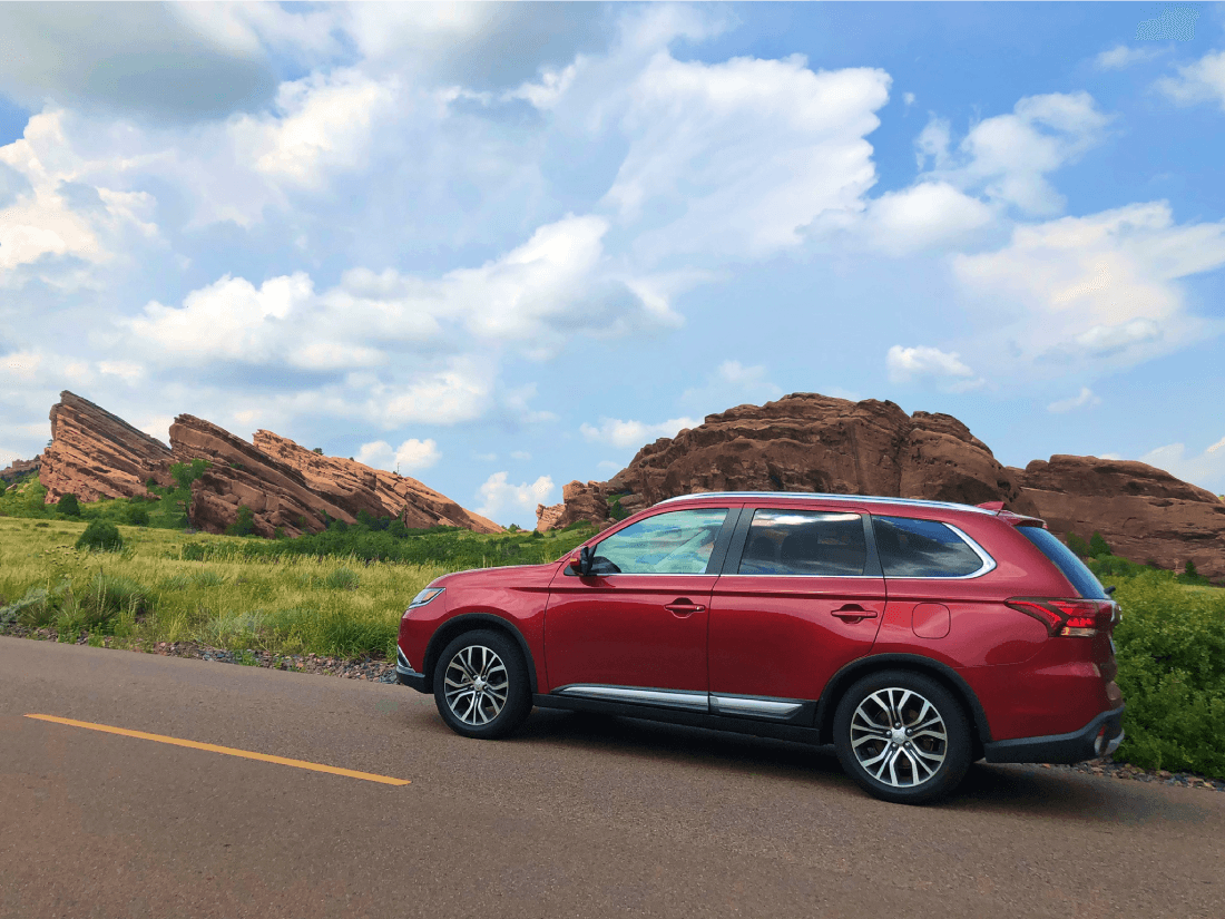 Driving a Mitsubishi Outlander through Colorado