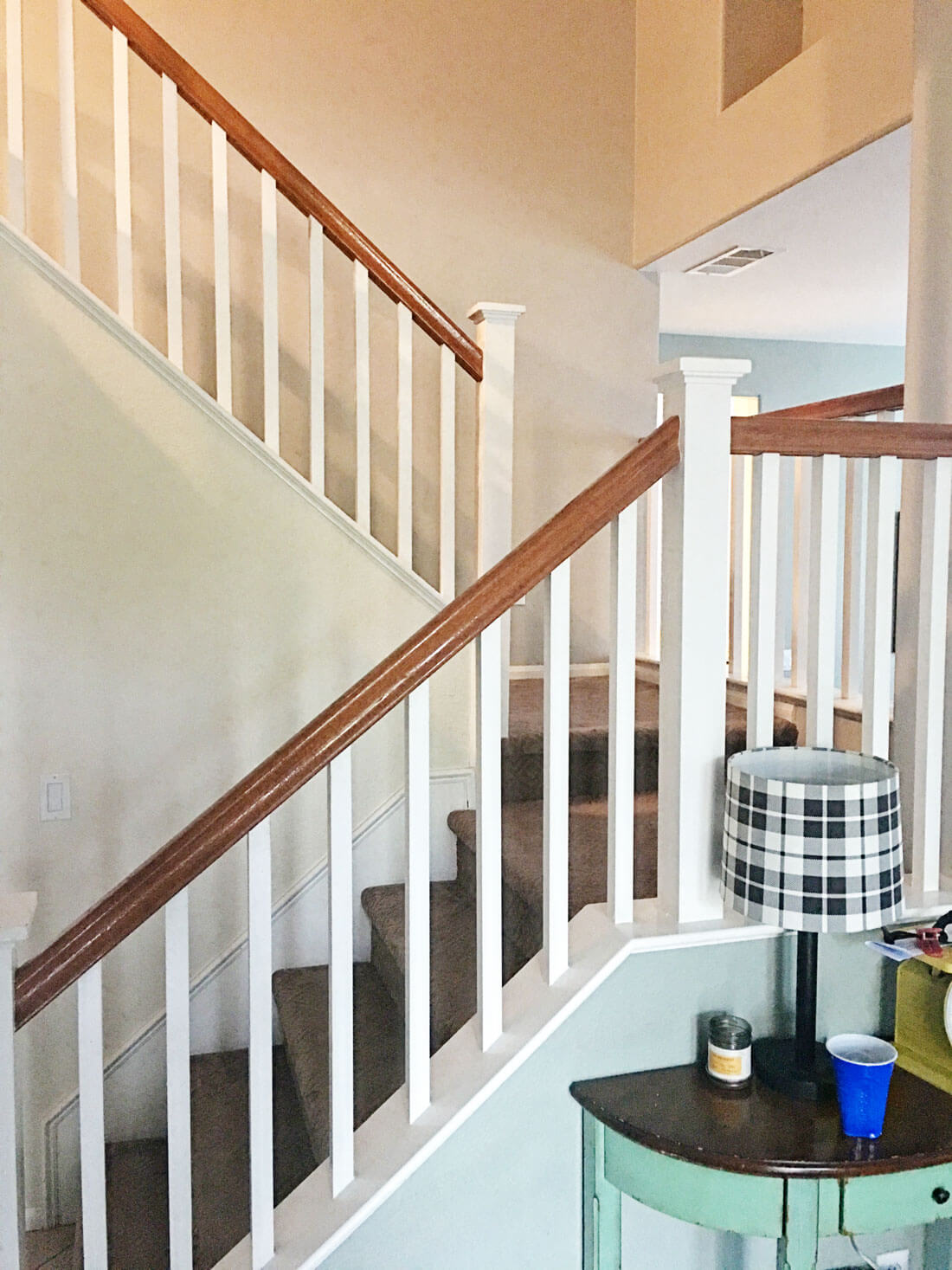 How to paint your stair railings and banister -the before