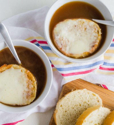 Slow Cooker French Onion Soup - it's time to whip out your crockpot and make one of your favorite soups!