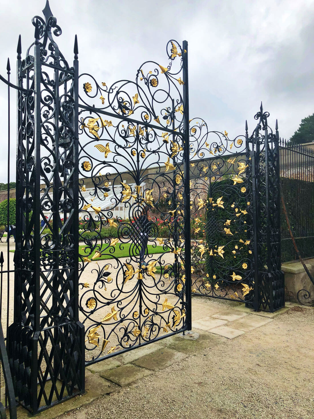 Gates at Powerscourt Estate in Ireland for British Isles Cruise