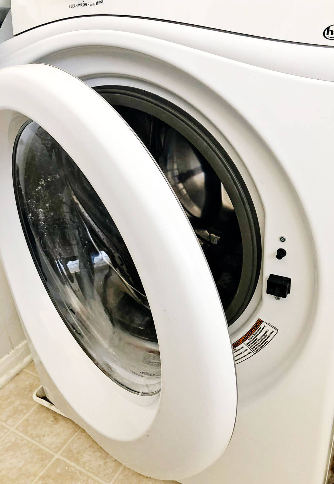 Washing Machine Tips - leave the door slightly ajar to make sure it gets air circulating.