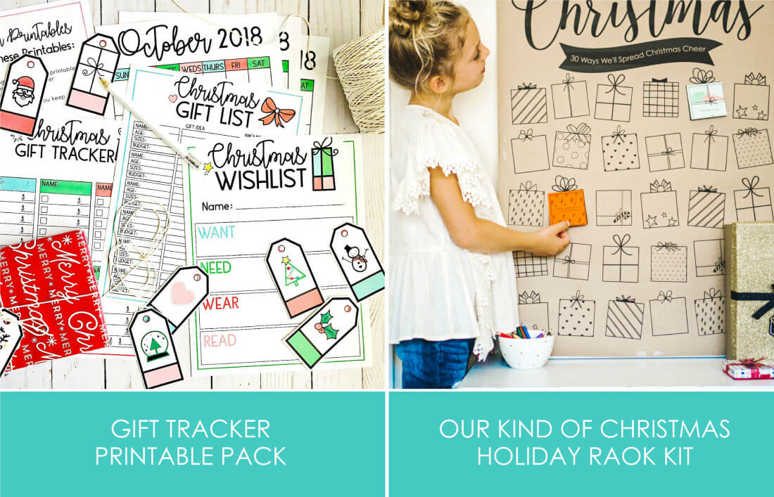 Gift Tracker Printables for Holiday Bundle