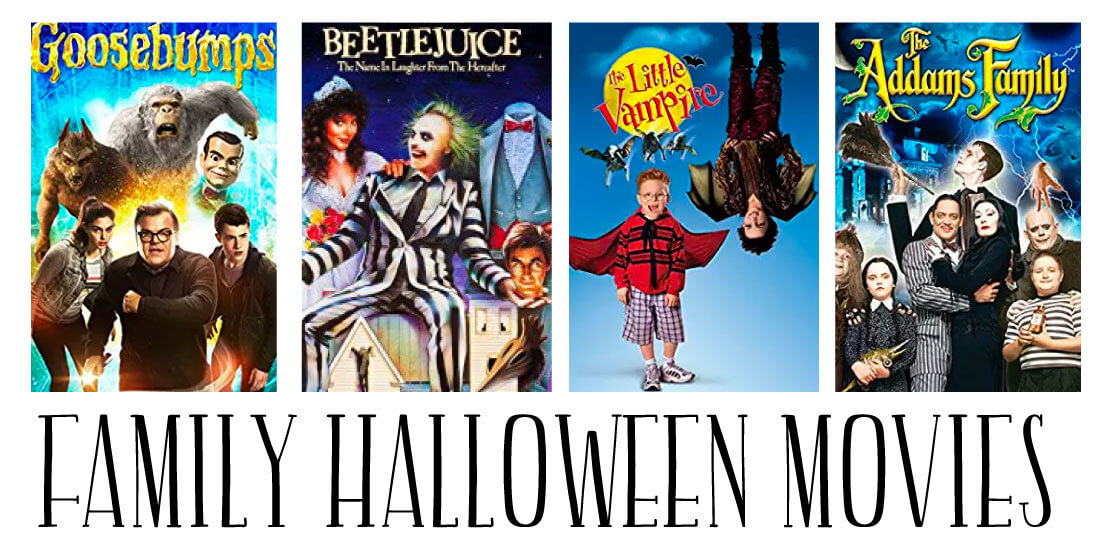 Family Halloween Movies - a whole list of fun movies to enjoy during the holidays.