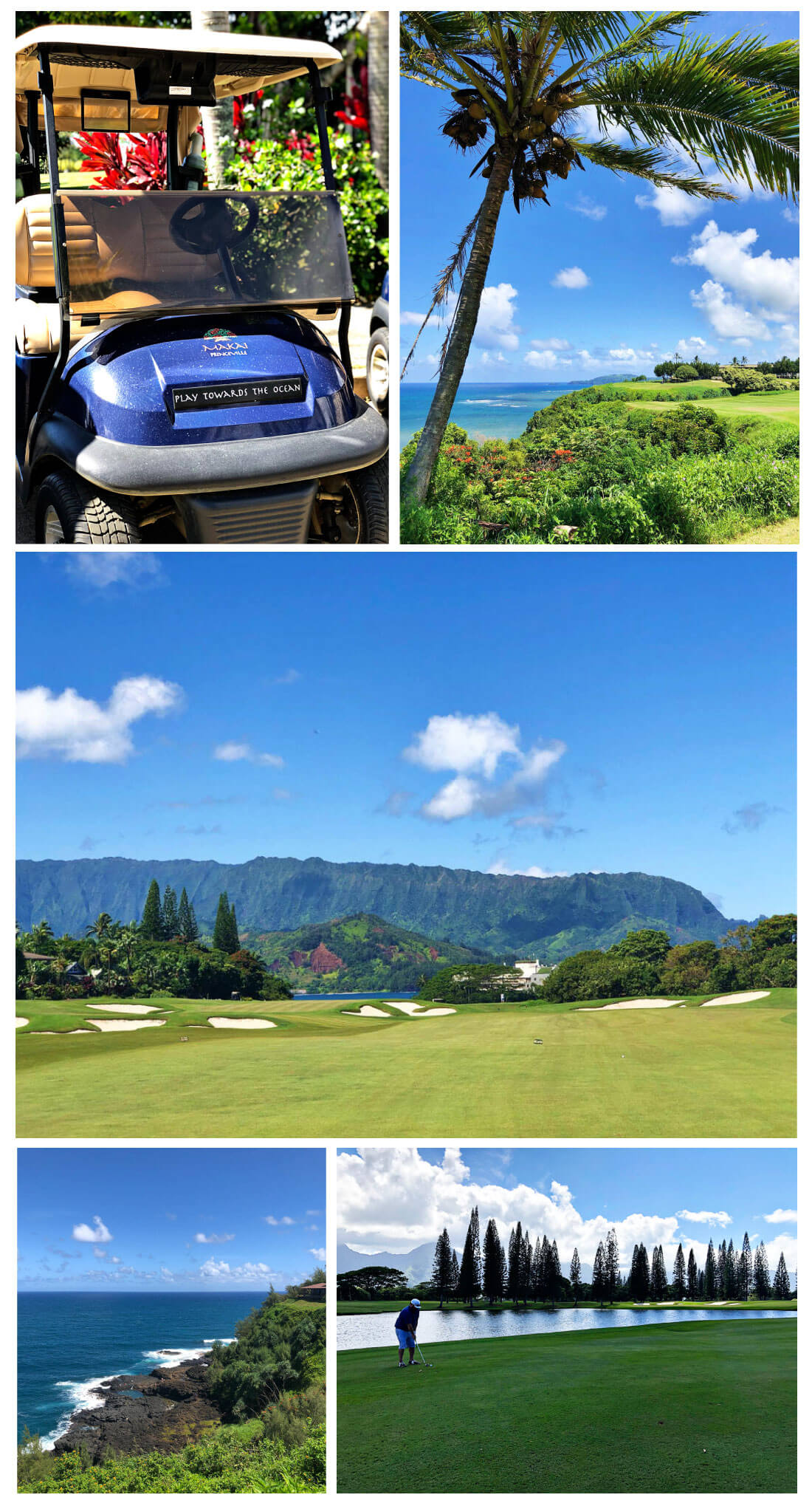 Top Things to Do in Kauai - golfing at Princeville Makai Golf Course