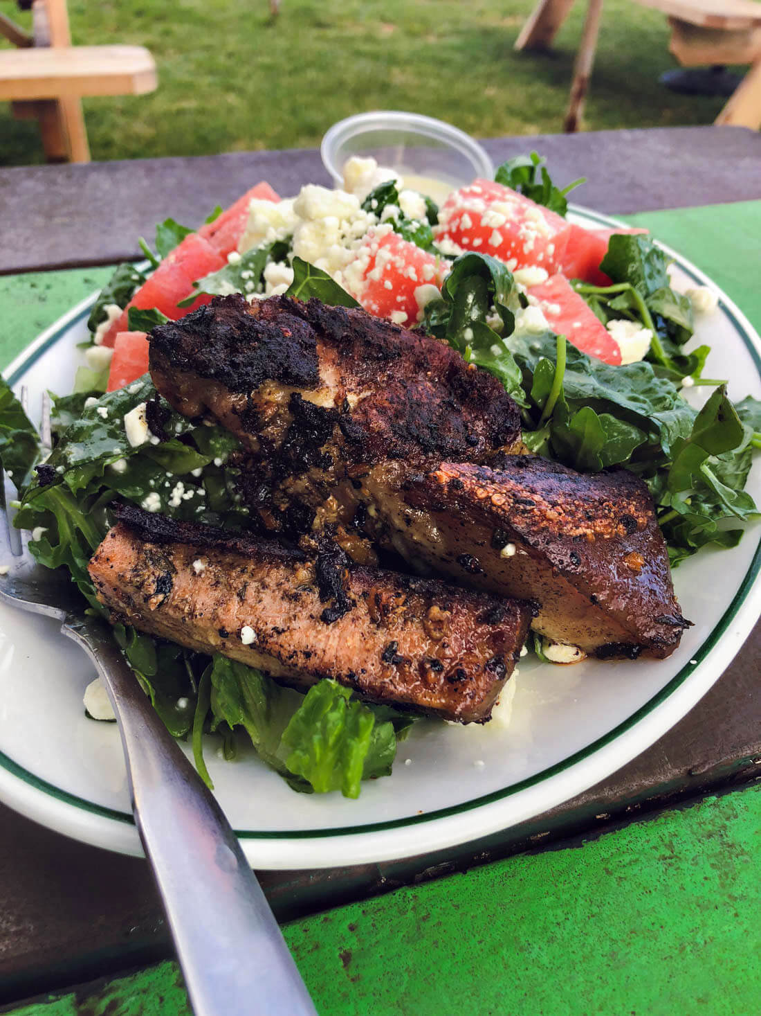 Pork Belly Salad from The Green Pig Truck
