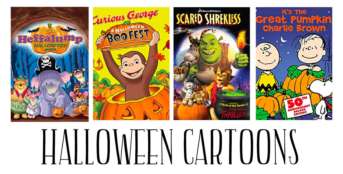 Halloween Cartoons - a whole list of fun movies to enjoy during the holidays.