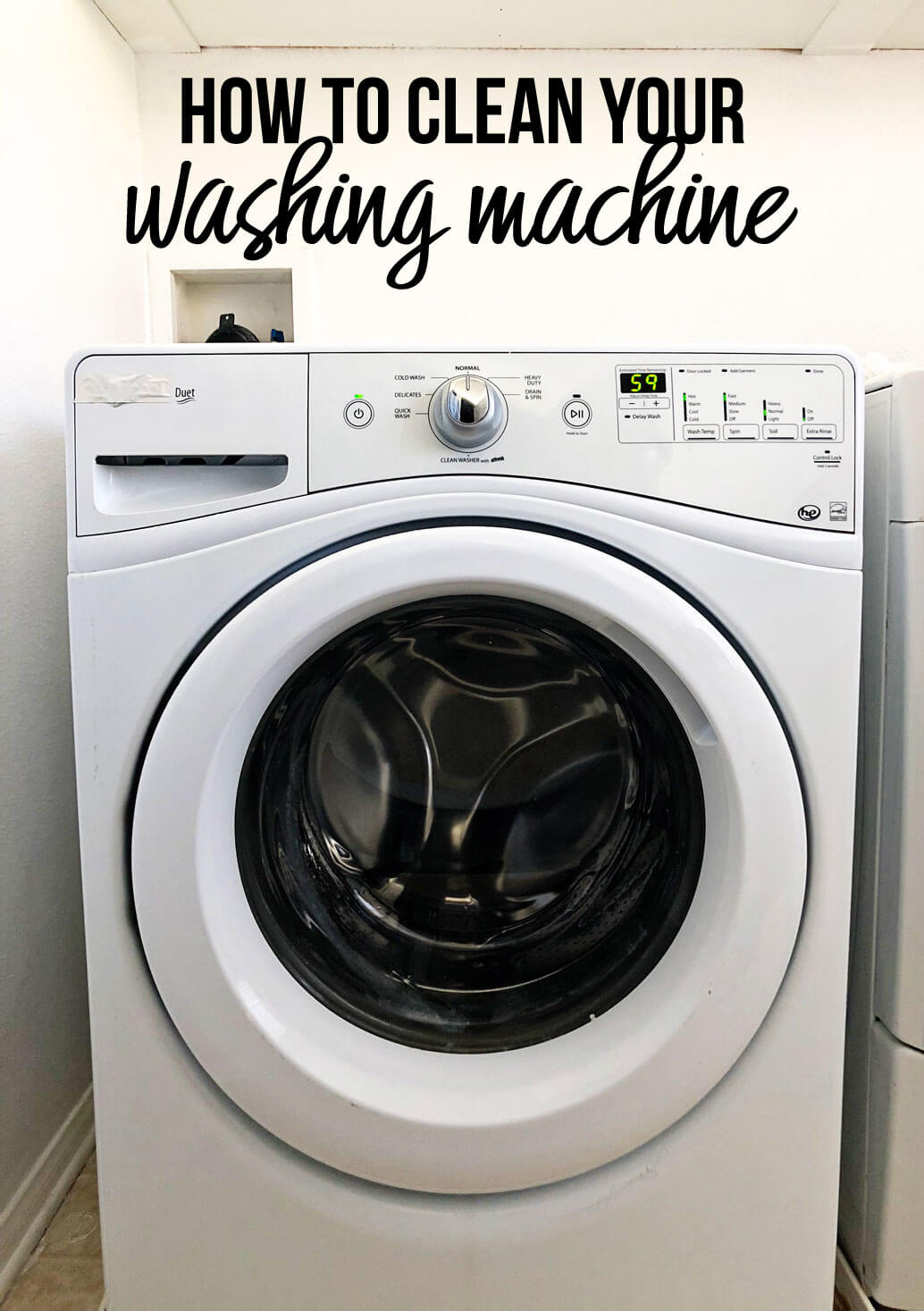 How to Clean Your Washing Machine - learn the simple way to make your washing machine work more efficiently!
