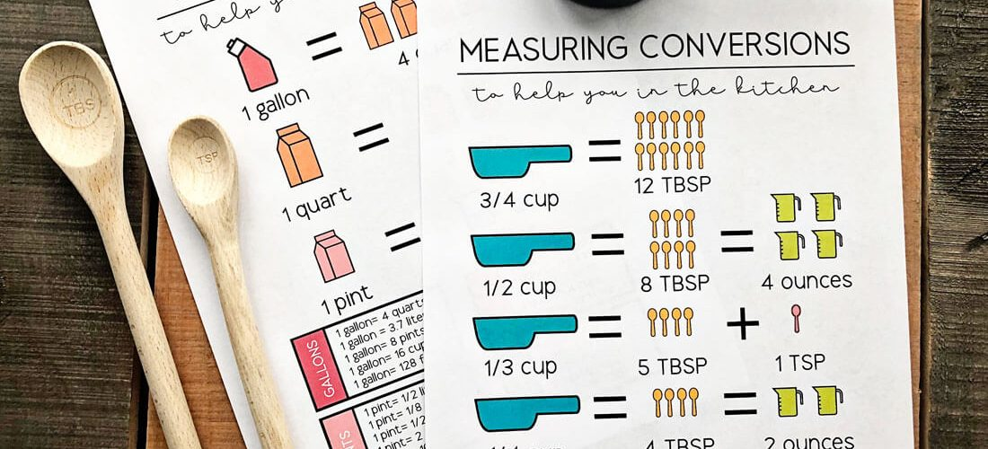 How Many Cups in a Quart? Kitchen Conversion Printables