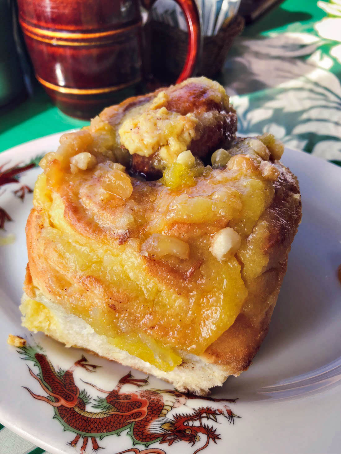 Macadamia Nut Cinnamon Roll from Hanalei Cafe