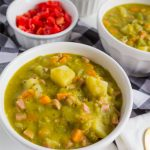 Split Pea Soup Recipe - don't let this recipe intimidate you! It's so deliciously creamy with tons of flavor. www.thirtyhandmadedays.com
