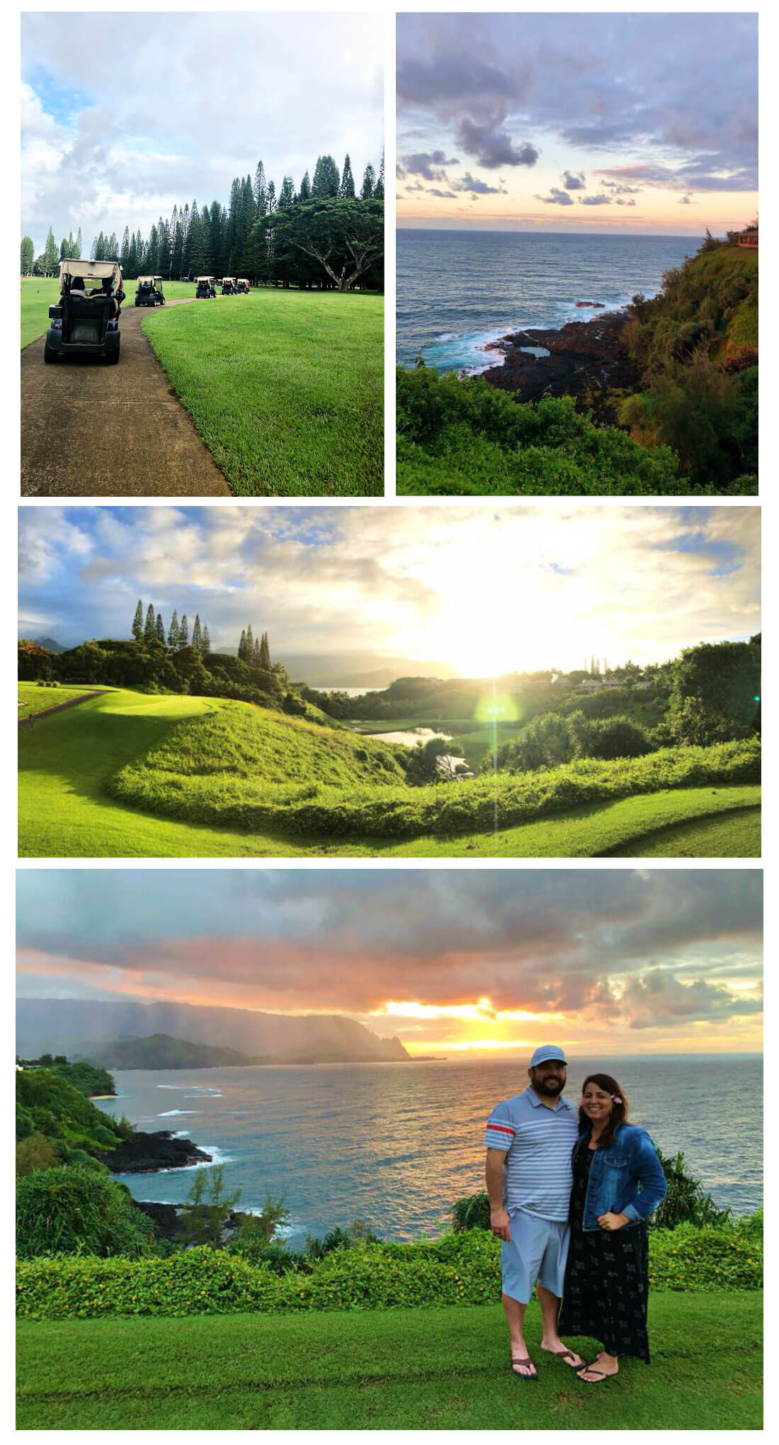 Top Things to Do in Kauai - go on a Sunset Tour with Makai Golf Course