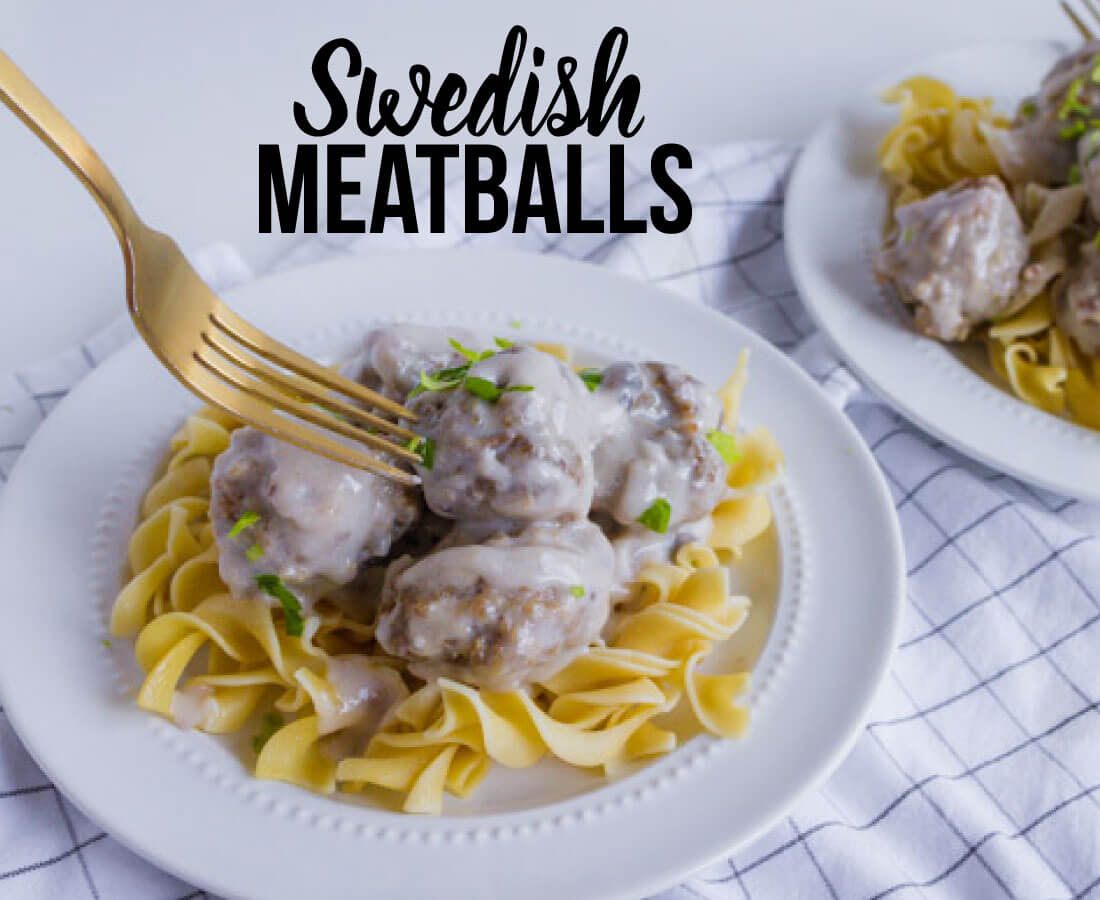 Swedish Meatballs - an easy to make dinner idea with a rich, creamy sauce!