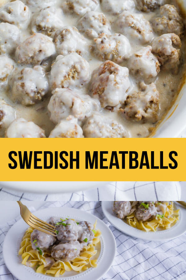 Swedish Meatballs Recipe- an easy to make dinner idea with a rich, creamy sauce served over egg noodles or potatoes.