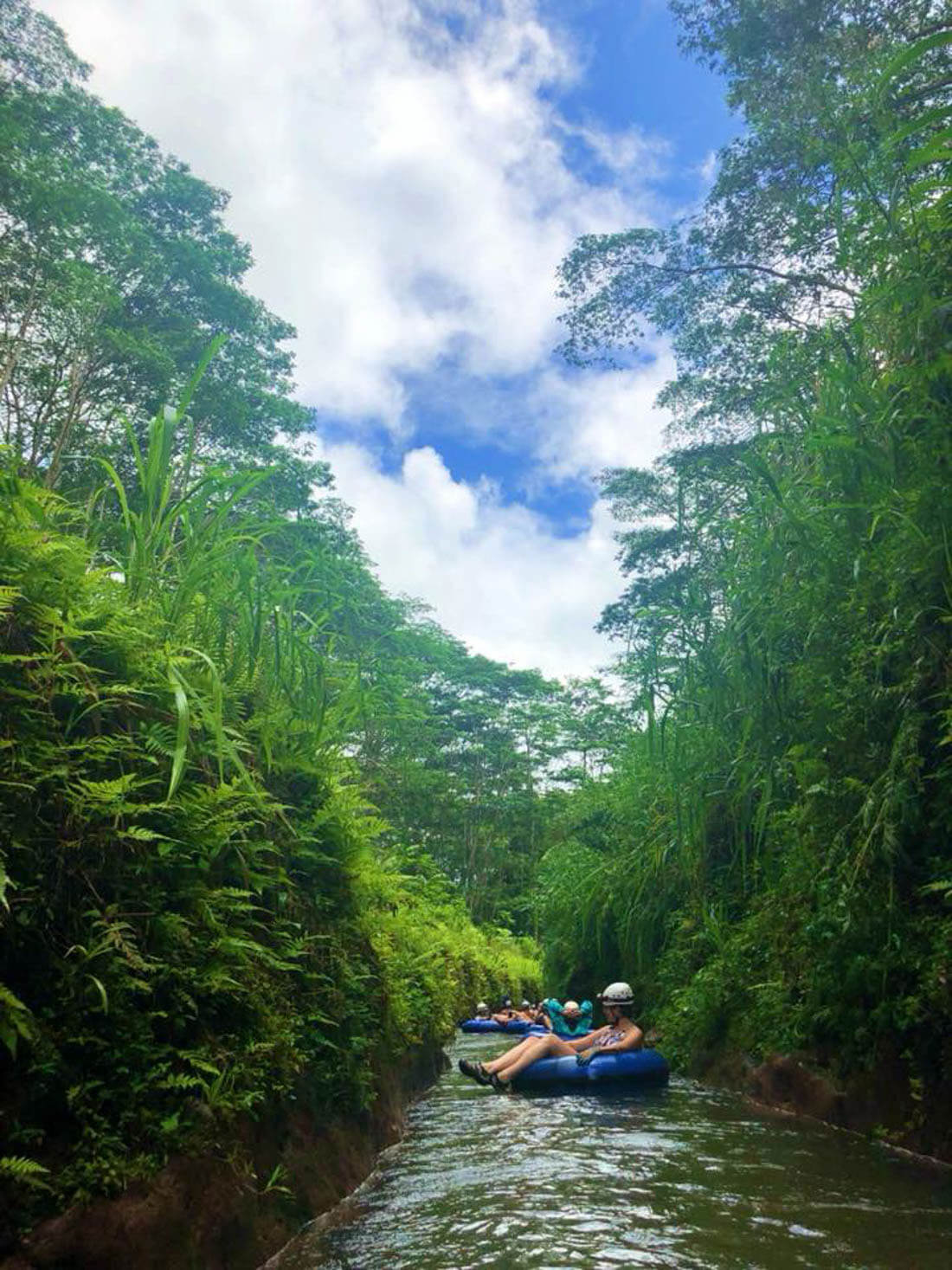 Kauai Tubing - going down the sugar cane canal