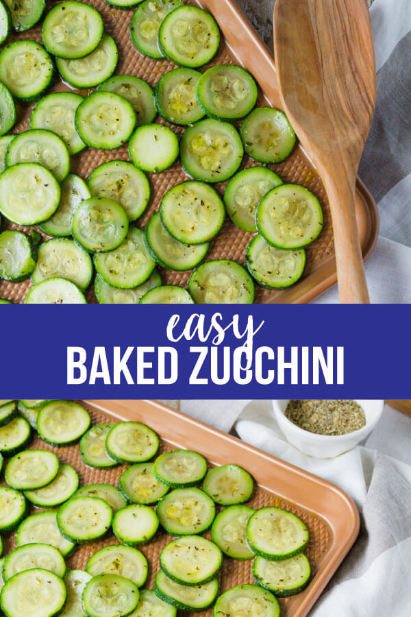 Baked Zucchini - make this simple side dish to serve with any meal. www.thirtyhandmadedays.com