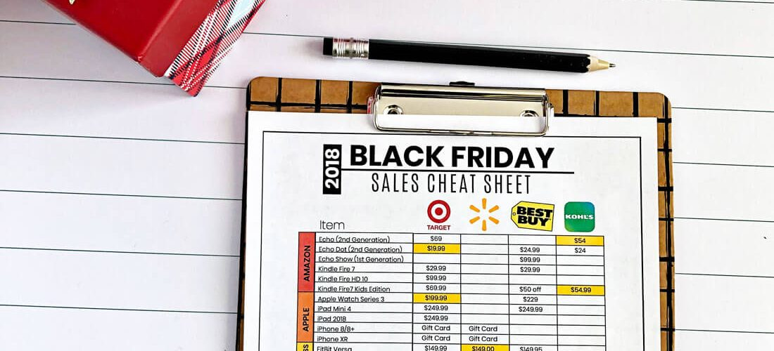 Black Friday Sales Cheat Sheet 2018