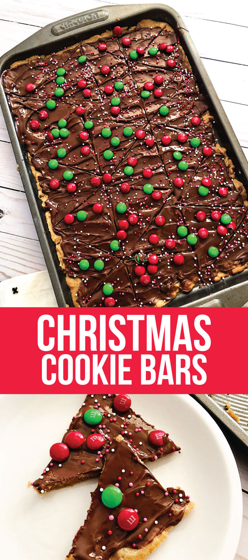 Christmas Cookie Bars - easy to make cookie bars for the holidays! from www.thirtyhandmadedays.com
