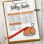 How long to cook a turkey - a quick printable to download and use.