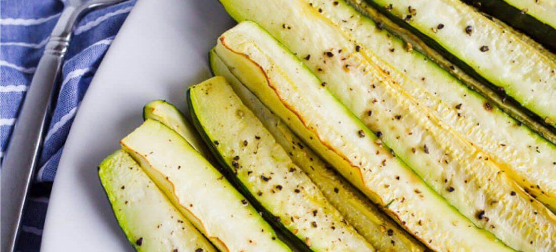 Roasted Zucchini Wedges