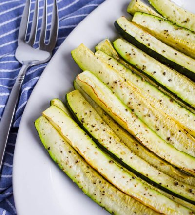 Roasted Zucchini Wedges - an easy side dish that your whole family will love.