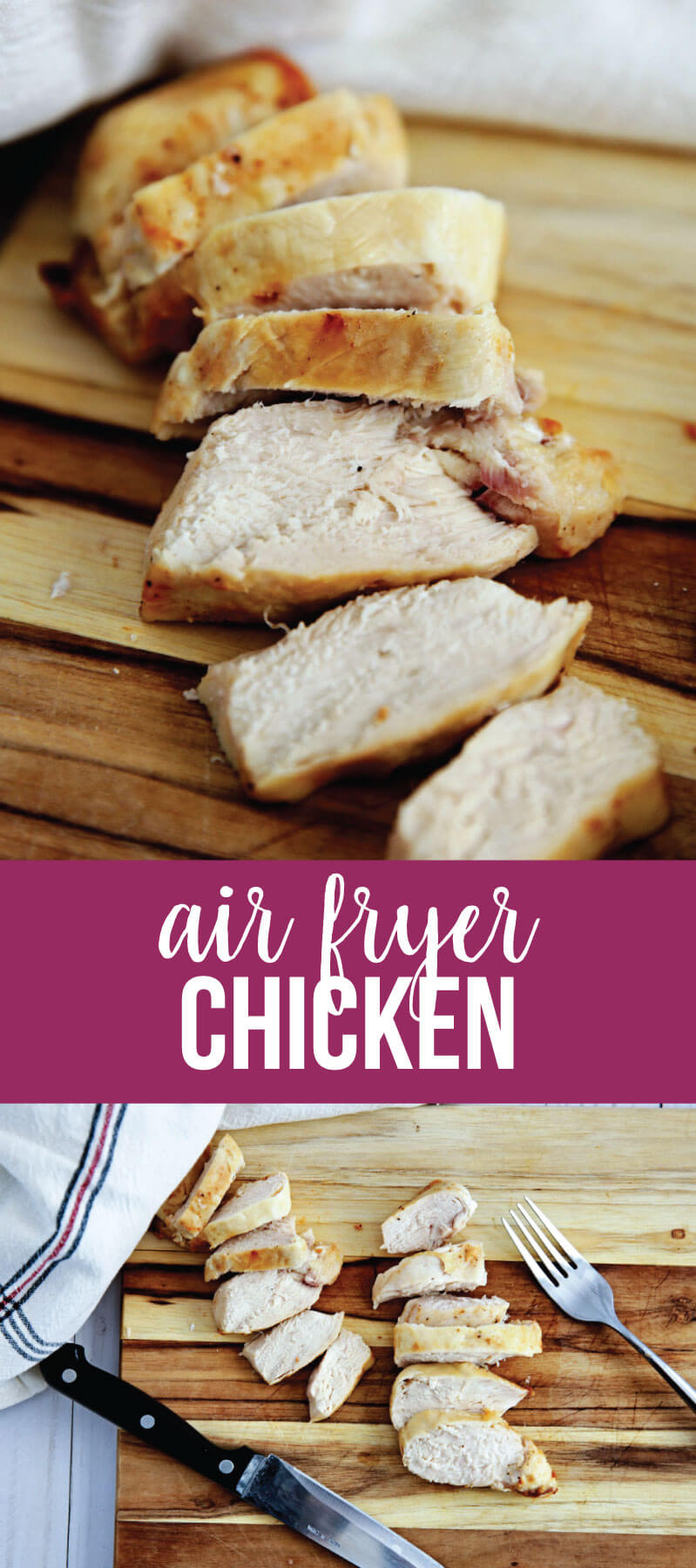 Air Fryer Chicken - learn how to make chicken in an air fryer. It's quick, easy and delicious!