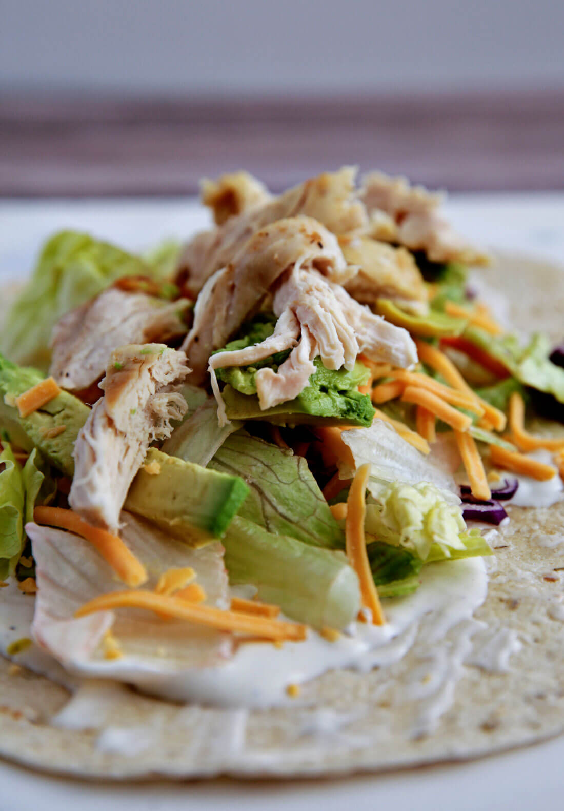 How to make a ranch chicken wrap