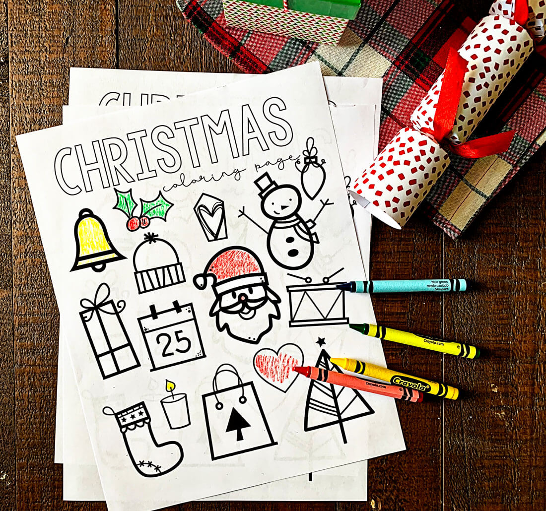 Printable Christmas Coloring Pages - print out these coloring pages for kids!