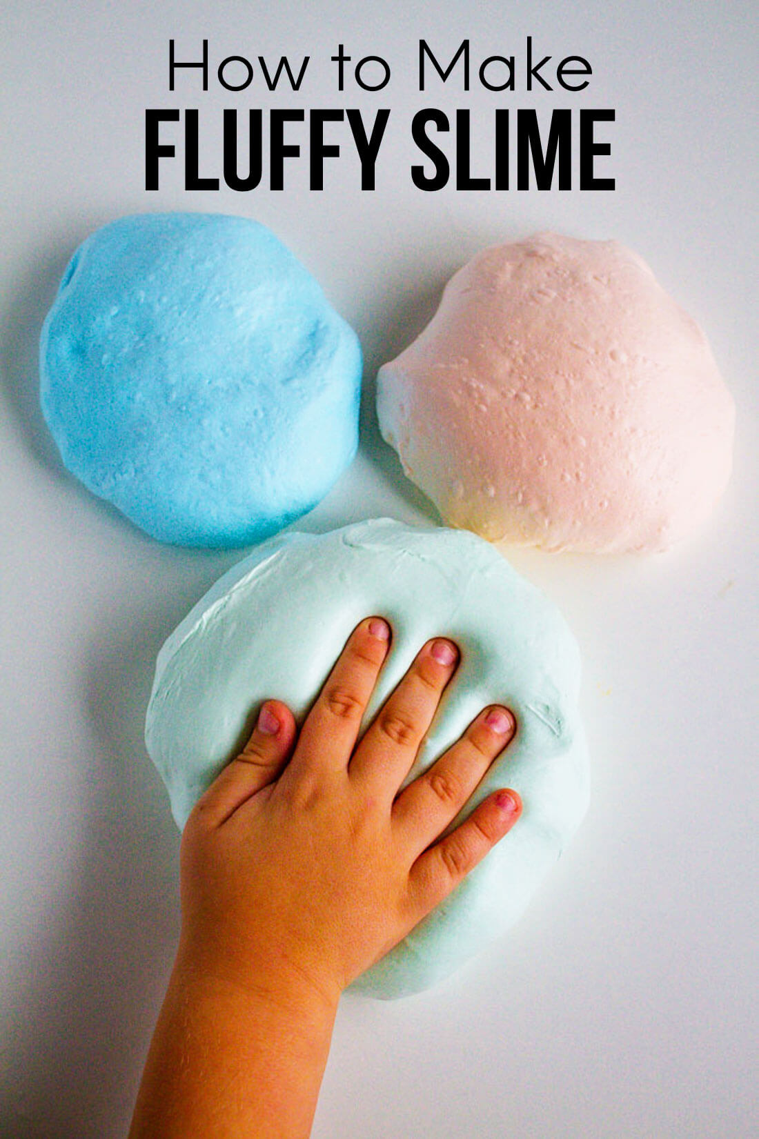 How to make fluffy slime - step by step easy instructions to make the best slime.