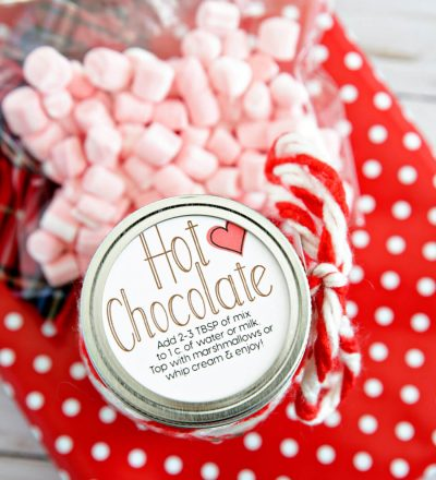 Hot Cocoa Mix - print these tags to use with this fun gift idea.