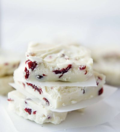 White Christmas Fudge - easy to make recipe that's perfect for the holidays!